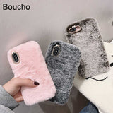 Furry fluffy Warm Case for iPhone XS Max XR X 11 Pro Gift TPU Case iPhone 6 6S 7 8 Plus
