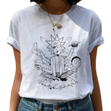 Rick and Morty Funny Cartoon T Shirt Women Ricky N Morty Ullzang T-shirt 90s Graphic Tshirt