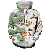 Cartoon Christmas Mouse 3D Printed Sweatshirt Hoodies