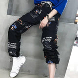 Hip Hop High Waist Harem Pants Women Cool Print Pants Streetwear Trouser