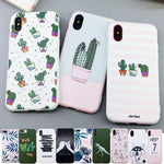Cactus Plants Print Phone Case for iPhone 11 Pro X 6 6s 7 8 Plus XR XS Max Fashion Soft TPU Rubber Silicon Cover Capa 11ProMax For iPhone11 11Pro ProMax