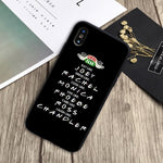 friends tv show how to doin Black silicone Phone Case For IPhone 11 pro Se 5s 6 6s 7 8 Plus X XS XR Max cover