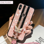 Fashion 3D Inlaid butterfly Phone Case For iPhone X XR XS MAX 11 Pro Max Cover For iPhone 7 8 6 Plus Case