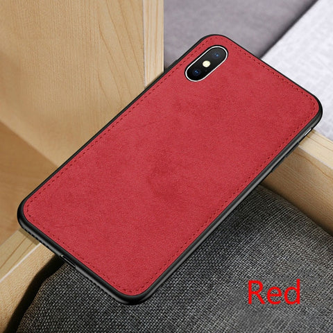Fabric Ultra-thin Canvas Silicon Case For iphone 7 8 6 6s Plus 11 Pro X Xs Max Xr Cloth Texture