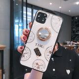 For Apple iphone 11 Case Luxury Diamond clock With Ring Stand protective case for iphone 11 Pro Max iphone11 11Pro