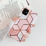 Plating Marble Case For iPhone 11 Pro Max X XR Xs Max Phone Case For iPhone 6 6s 7 8 Plus