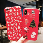 Christmas Case For iPhone XS MAX XR X Soft Silicone Funda Cases For iPhone 8 7 6 6s Plus 5 5s SE