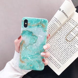 Gold Foil Bling Marble Cases For iPhone X XS XR 11 Pro Max 3D Bee Soft TPU Case Cover For iPhone 7 8 6S Plus