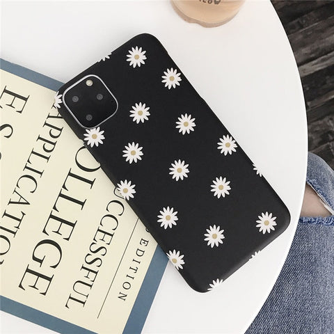 Daisy Flower Paint Phone Case For iPhone 11 Pro Max X XR XS Max 8 6 6s Plus 7 7 Plus