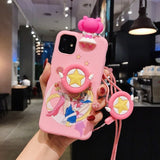 Sailor Moon Pink Phone Case For iPhone 11 Pro X 8 7 6s Plus XS Max XR Soft 3D