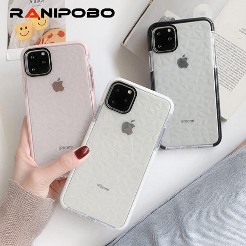Bumper Frame Diamond Phone Case For iPhone 11 11Pro Max XR X XS Max 8 7 6 6S Plus