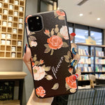 Vintage Relief Flower Soft TPU Case for iphone XS Max XR X 10 7 7plus 6s 6 8 plus 11 Pro MAX