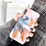 Oil painting Case for iphone 11 11Pro Max XS Max XR XS 7 8 6 6S Plus
