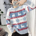 Knited Christmas Sweaters Womens Winter jumper Pullovers