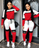 Sweater top joggers pants suit two pieces set fashion sportswear tracksuit outfit