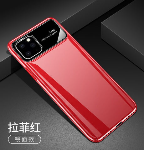 Luxury Matte Hard PC Tempered Glass Protective Back Cover Case for iPhone 11 Pro Max iphone11 11pro