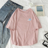 90s Girl Fashion T Shirt Women Kawaii carrot Print Short Sleeved O-neck T-shirts