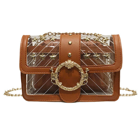 Casual Solid Color Transparent Handbag Shoulder Bags