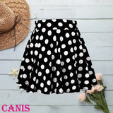Mini Ballet Polka Dot Evening Party Skirts Student Girls Casual Skirts