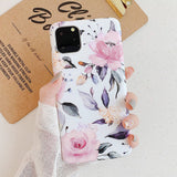 Retro Colorful Flowers Phone Case For iphone XR XS Max X 6 6S 7 8 Plus 11 11Pro Max