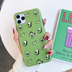 Cartoon Fruit Avocado Phone Case For iPhone 11 Pro Max XR X XS Max 7 8 6 Plus
