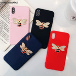 Diamond Glitter Bee Case For iphone 11 Pro XR XS MAX Case For iphone 7 6S 6 8 Plus X 5 5S Cover