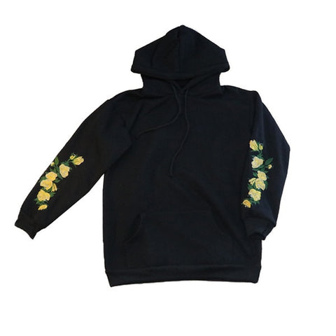 Elegant Floral Embroidery Long Sleeve Pullover High Quality Christmas Hoodies