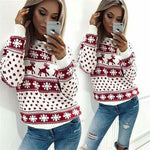 New Year Women's Christmas Xmas Sweater Fashion Female Jumper Sweater Xmas Deer