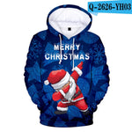 Christmas 3D Hoodies in kids and adult Caps Sweatshirts