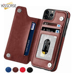 Flip PU Leather Case For iPhone X 7 8 6 6S Plus XR XS MAX iPhone 11 Pro Max 5 5S SE