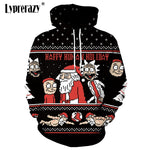 Rick and Morty Christmas Hoodies Santa Claus print Unisex Sweatshirt Hoodie