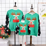 Christmas Sweater Family Reindeer Tree Deer Matching Outfits Father Mother Son Daughter Mom Me Kid