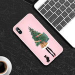 Christmas Santa Claus For iPhone 11 Phone Case For iPhone 7 8 6 6s Plus X XR XS Max 11 Pro 5 5s SE Silicone Back Cover