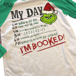 Christmas Grinch T Shirt Baggy Three Quarter Knitted T-Shirts
