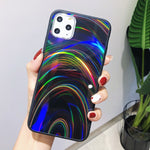 Rainbow Mirror Phone Case For iphone 11 Pro Max Xs X XR Cute Soft TPU iphone 6 6s 7 8 Plus Case