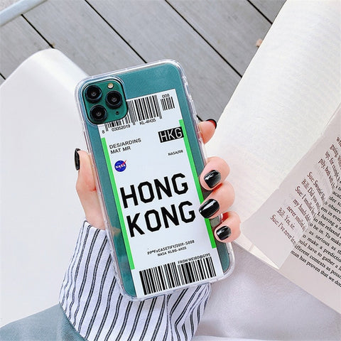 Transparent Anti-fall Air tickets For iphone 6 6S 7 7plus 8 8Plus iphone X XR MAX 11 pro max Case