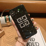 Diamond Case For Apple iphone 6 7 8 Plus X XR XS MAX Glitter Black Back Cover 11 Pro MAX Bling Clear Transparent Acrylic Cases