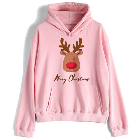 Christmas hoodie women/men harajuku 90s funny kawaii  Sweatshirt Oversized