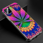 Transparent Clear TPU Cover Psychedelic Trippy Weed for iPhone 11 11Pro XS MAX XR X 8 7 6S 6 Plus 5S Phone Case