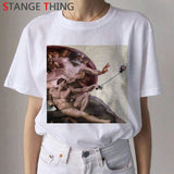 Michelangelo Cat David T Shirt