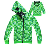 Minecrafting Anime Around Clothes Sweatshirts Christmas Shirt Creeper Cosplay jacket kids Boys Girls