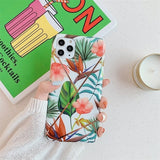 Marble Floral Case For iPhone 11 Pro Max 6 7 8 Plus X Xs Max Glossy Geometric Cover