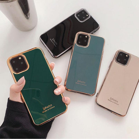 Shockproof Electroplated Phone Case For iPhone 11 11Pro Max XR XS X XS Max