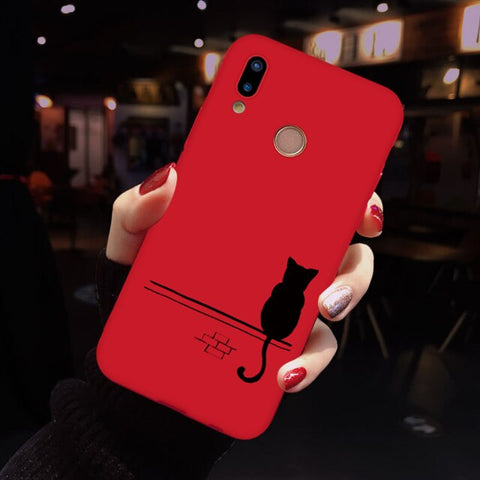 Matte Silicone Case For Huawei Y6 Y7 Pro P8 P9 P10 P20 P30 Pro Mate 20 Lite For Honor 8X 7A 9 Lite 10 Play Christmas