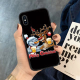 Merry Christmas Happy New Year Case for iPhone 11 Pro XR XS Max X 5 5S SE 6 6S 7 8 Plus