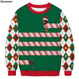 3D Funny Dog Print Ugly Christmas Sweater Xmas Women Men Pullover Sweaters Jumpers - Outfitter Style