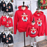 Christmas Clothes Mom Dad Kids Santa Claus Hoodie Pullover Sweatshirt Jumper Family Matching Warm