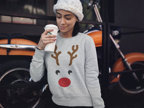 Christmas Dear Printed Pullover Sweatshirt Hot Slim Pullovers