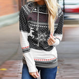 Christmas Warm Hooded Sweatshirt Pocket Casual Loose Pullovers