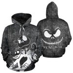 The Nightmare Before Christmas Hoodie 3D Print Hoodie Sweatshirts Cosplay Sally Jack Skellington Santa Christmas Coat Jacket